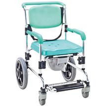 一期一会老人座便椅 可进马桶 老人洗澡椅 孕妇洗澡椅座便椅 铝合金带轮上海实体店