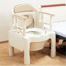 日本安寿老人坐便椅便携高低可调节孕妇座厕椅成人马桶原装进口