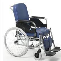 卫美恒轮椅折叠带坐便器 老人残疾人代步车豪华软座加厚坐背垫