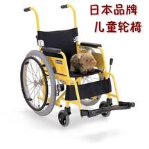 日本河村儿童轮椅车超轻便携航太铝合金高档儿童代步车折叠舒适