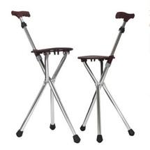 卫宜康老人拐杖凳铝合金老人助行器四角拐杖带坐凳拐杖上海实体店