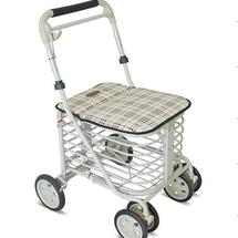 埃立娇老人购物车折叠带坐买菜车老年助步车老人手推车助行器