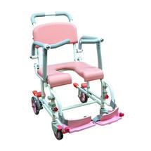 日本松永洗澡轮椅老人残疾人浴室带轮移动洗澡凳浴室坐厕椅 上海实体店