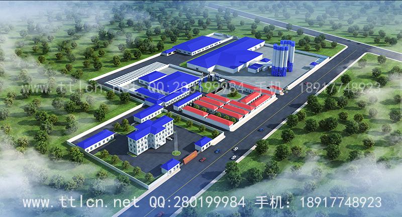工业厂房厂区鸟瞰效果图设计