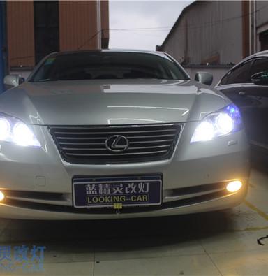 雷克萨斯ES250改装双光透镜 上海浦东车灯升级 蓝精灵改装天使眼大灯总成