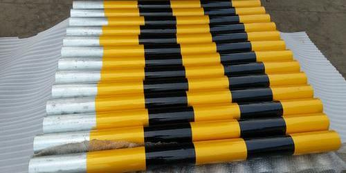 上海道路红白杆路障 警示柱安装 黄黑柱立杆 岔口路桩 防撞柱 钢管警示柱