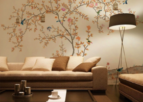 沙发墙彩绘