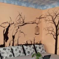 沙发墙彩绘实拍000019