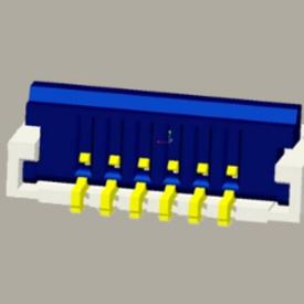 SPEC: 0.5P 1.0H FPC(后掀下接式/0.2排线)
