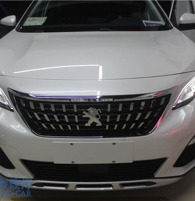 标致4008改装氙气灯 上海LED大灯升级 蓝精灵车灯改装 松江改灯