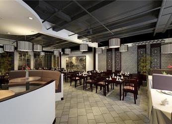 江西商会特色中式餐馆装修设计效果图