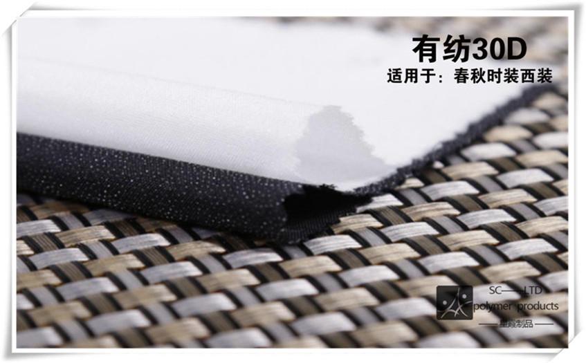涤纶30D有纺衬布