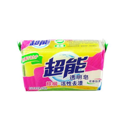 超能透明皂 226克x2块