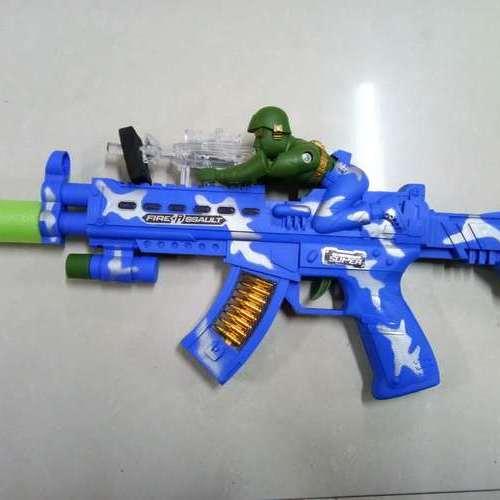 袋装带兵人音乐枪