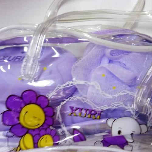 洗漱包 内含牙刷杯 镜子 梳子 浴花