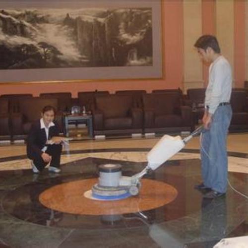 会议室大理石翻新和晶面处理