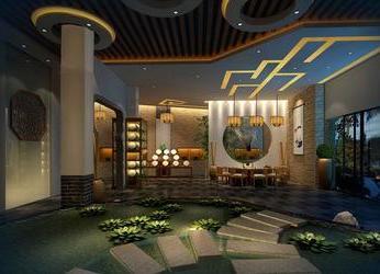广州茶艺馆装修设计效果图