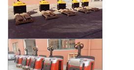 浙江某新能源行业老客户最新购买的一批仓储车辆顺利交货