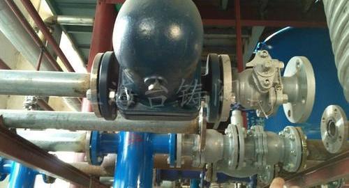 江苏某化工公司使用浮球式疏水阀现场