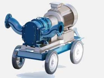四轮普通移动泵车