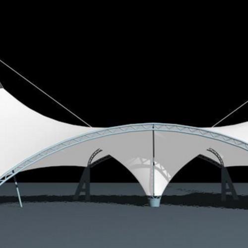 膜支承结构的安装
