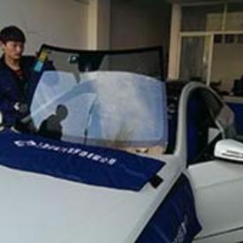奔驰S600L汽车玻璃安装