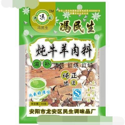 冯民生炖牛羊肉料 45克