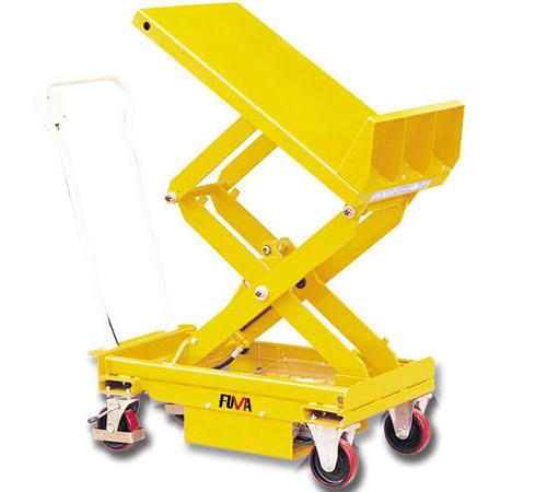 台面倾斜型脚踏式平台车
