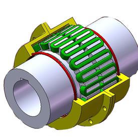 JSP带制动盘型蛇形弹簧联轴器