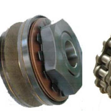 带双排链轮摩擦式扭力限制器