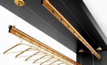 降晾衣架手摇双杆式阳台自动凉衣架 室内晾衣杆晒衣架