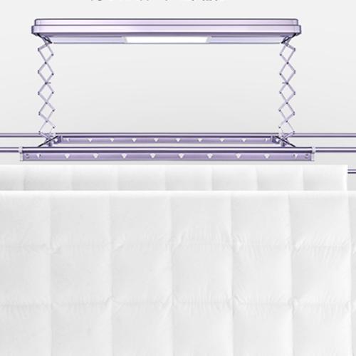 智能遥控电动升降铝合金LED灯晾衣架