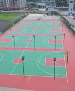 塑胶篮球场承建
