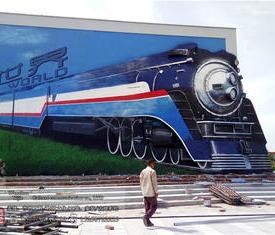 铁路城墙绘