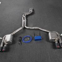 奥迪A7 2.0T/2.5/2.8/3.0T 中尾双边四出(改RS7)加阀门