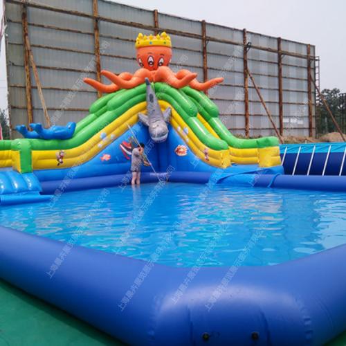 泳池充气游乐设备