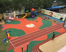 杭州电大路幼儿园塑胶地坪