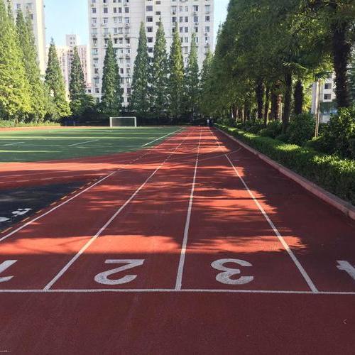 浙江温州文成双规小学透气型塑胶跑道