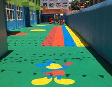 嘉兴童心幼儿园塑胶地坪