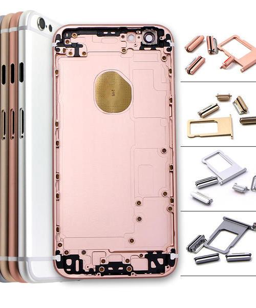 适用 苹果iphone6S 后盖 外壳 电池盖 银白/灰/金/玫瑰金