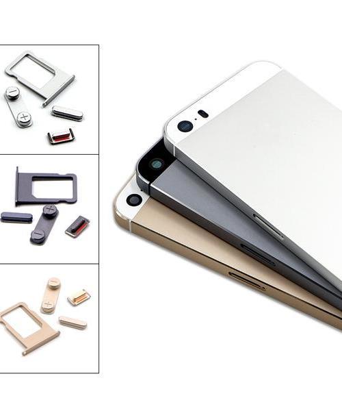 适用 苹果iPhone5 5S 后盖 外壳 电池盖 黑 白 金