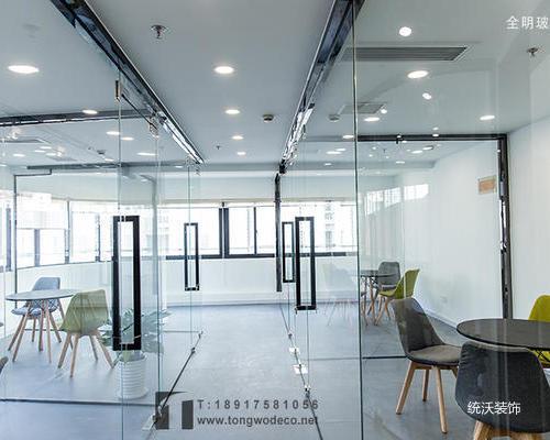 设计公司办公室玻璃隔断