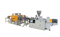 PVC wave tile production line