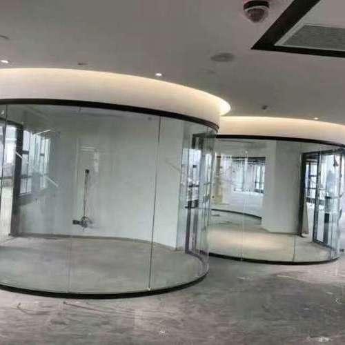 异型弯弧玻璃隔断