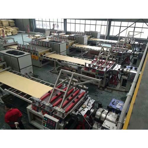 WPC floor production line,