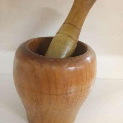 木制搗蒜器