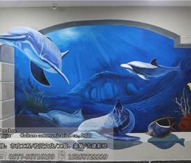 欧洲城儿童水上乐园墙绘