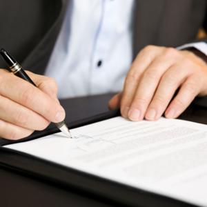 簽定施工合同