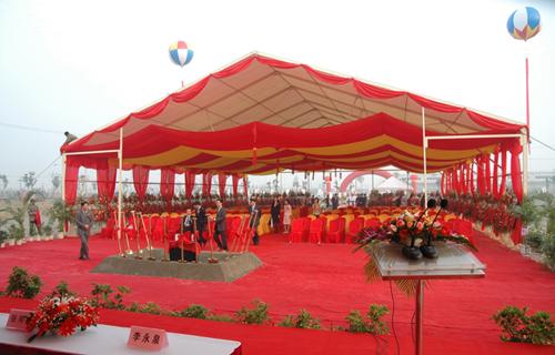苏州外资企业奠基典礼上的庆典篷房