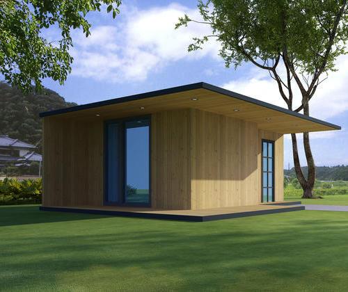 SYM004, simple cabin ecological wood cabin room door
